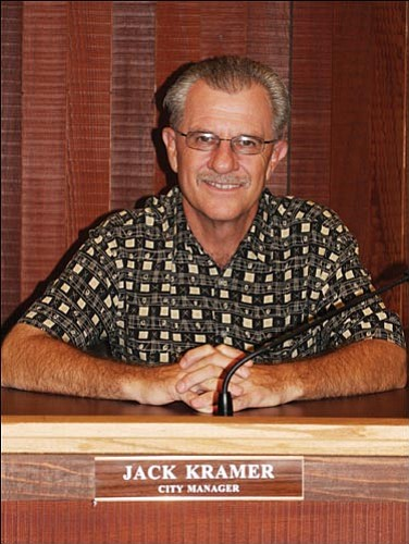 JC AMBERLYN/Miner<Br><br> Former Kingman Public Works Director Jack Kramer has signed a contract as the new Kingman city manager.