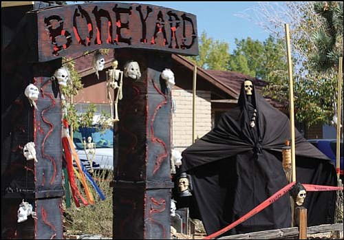 "JC AMBERLYN/Miner<BR> Many Halloween decorations can be seen around town now that Halloween is almost here.  The ""Bone Yard"" is at 2613 Lillie Ave."