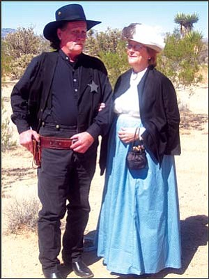 Lead Rangers: Bob and Annie McCord sport their Old West garb. The pair is starting a professional acting troupe, the Golden Valley Rangers. GVG Photo/DONNA NEWMAN