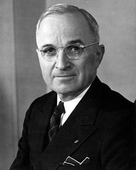 Thirty-third president of the United States Harry Truman.