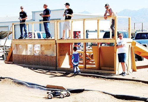 Submitted<br><br> On your marks: Andy Lewis of Kingman has brought the thrill and competition of remote-controlled racing back to the Kingman area. Here,  participants race their cars at RC Raceway,  4455 N. Bank St.