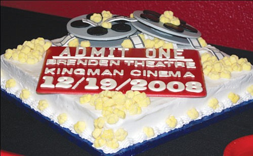 JC AMBERLYN/Miner<br><br> Brenden Theaters celebrated its opening last Friday with a movie-theme decorated cake.