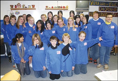 JC AMBERLYN/Miner These Kingman Academy of Learning students are pictured during a special meeting at school Wednesday evening before heading out to Washington D.C. Saturday to visit historical sites and see Barack Obama sworn in as the 44th president of the United States on Tuesday.
