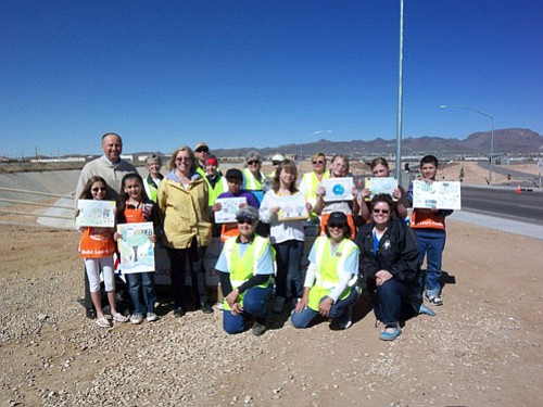 Courtesy<br><br> Arbor Day poster contest winners pose with local luminaries.