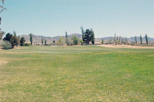 SHAWN BYRNE/Miner<br><br> The fairway on Hole No. 1 at Valle Vista Golf Course is green and waiting for action.