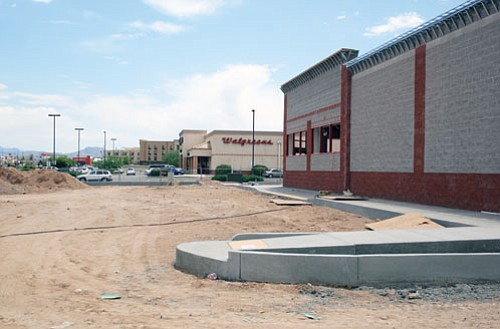 JC AMBERLYN/Miner<br><br> Construction continues on the site of the new CVS/pharmacy store to be located on the northwest corner of Stockton Hill Road and Airway Avenue. The store is scheduled to open in mid-July, several months earlier than initial developer estimates.