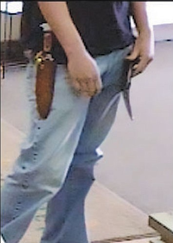 Courtesy<Br><br> Law enforcement officials hope the unique knife carried by a bank robber will help lead to his identification. The top of the knife's handle appears to be in the shape of an eagle's head.
