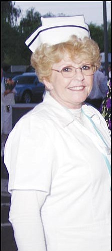 Courtesy<br> Linda Gabby of Kingman will test soon to become a registered nurse at age 60.