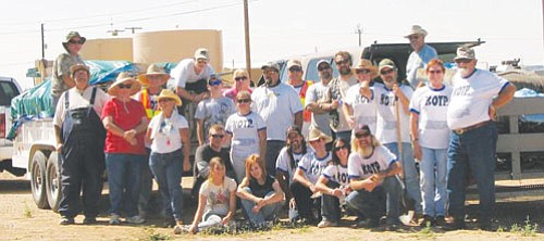 Courtesy<Br><BR> More than 25 volunteers collected 3,940 pounds of debris from the north Kingman-area during one Saturday cleanup in September. The next cleanup will take place Nov. 14.