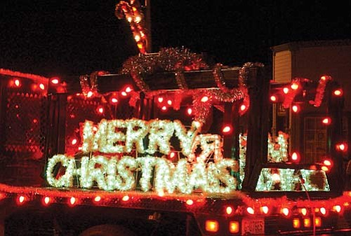 """JC AMBERLYN/Miner<br> A photo of a float in the Parade of Lights in 2007. This year's event also features a children's parade.  <a href=""""http://kingmandailyminer.com/Formlayout.asp?formcall=userform&form=20"""">Click here to purchase this photo</a>"""