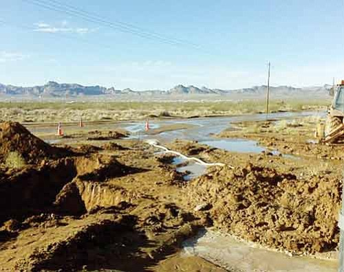 Courtesy<BR><BR> An area of Golden Valley received a soaking Thursday and Friday when a water line broke.