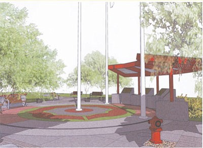 Courtesy<br/>An artist's rendering shows the proposed Doxol explosion memorial, set to break ground next week.