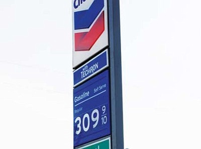 JC AMBERLYN/Miner<br/>The Chevron gas station just off U.S. 93 on Beale Street was charging $3.10 a gallon  Thursday.<br/><br/>
