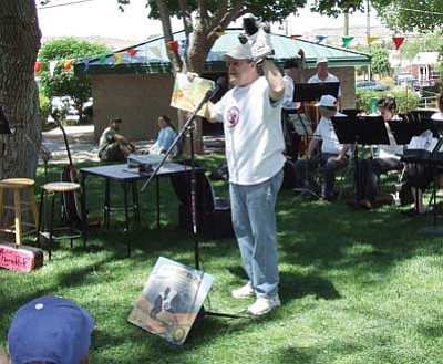 Courtesy<br /><br /><!-- 1upcrlf2 -->Children's author Conrad Storad reads from his book at the KABAM festival at Metcalfe Park last year.