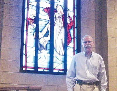 SUZANNE ADAMS/Miner<br /><br /><!-- 1upcrlf2 -->After eight years, the Rev. Michael Bryant from St. Johns United Methodist Church is leaving Kingman at the end of the month for a new church in Gilbert.