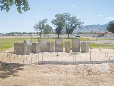 ERIN TAYLOR/Miner<br /><br /><!-- 1upcrlf2 -->Around 75 of 300 available memorial bricks have been purchased for inclusion in the Doxol explosion memorial at Firefighters Park. Construction is expected to be completed within the next two months.