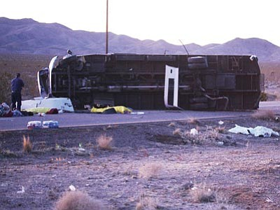 JC AMBERLYN/Miner<br /><br /><!-- 1upcrlf2 -->The National Transportation Safety Board will hold a hearing at 9:30 a.m. June 22 in Washington D.C. to determine the cause of a roll over bus accident that occurred more than a year ago on U.S. 93 near Dolan Springs.