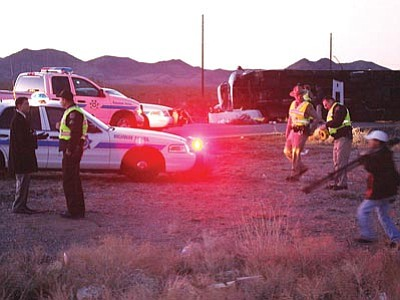 JC AMBERLYN/Miner<br> The National Transportation Safety Board ruled Tuesday that a distracted driver caused the crash of a tour bus and the death of seven Chinese tourists on U.S. 93 near Dolan Springs in January 2009.