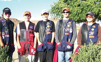 Courtesy<br> The Mohave Top Guns team, from left, Forrest Keller, Josh Schanaman, Chris Franklin, Colorado Parr and Kirsten Shaw.
