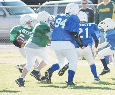 SHAWN BYRNE/Miner -- Games like the Cowboys against the Packers will return soon as the Kingman Youth Football League gets ready for its 37th season.<br /><br /><!-- 1upcrlf2 -->