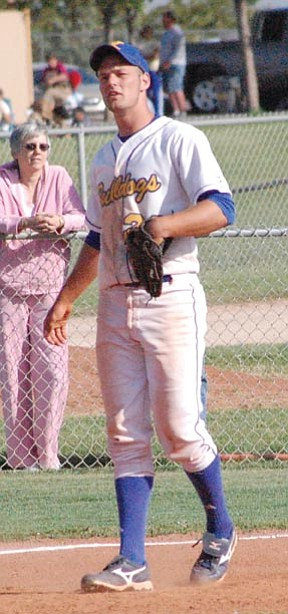 SHAWN BYRNE/Miner -- Former Kingman High standout Tyler Huffer, pictured waiting for a pitch against Goldwater in April 2009, made All-ACCAC after his freshman season at Arizona Western College.<br /><br /><!-- 1upcrlf2 --><br /><br /><!-- 1upcrlf2 -->