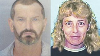 """Courtesy -- Authorities on Wednesday released these """"updated"""" photos of John McCluskey, who escaped from the prison in Golden Valley July 30, and his accomplice/girlfriend Casslyn Welch."""