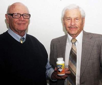 JC AMBERLYN/Miner<br /><br /><!-- 1upcrlf2 -->Doctors John Lingenfelter (left) and Edwin Goertz have developed Doctor C, a potent vitamin.