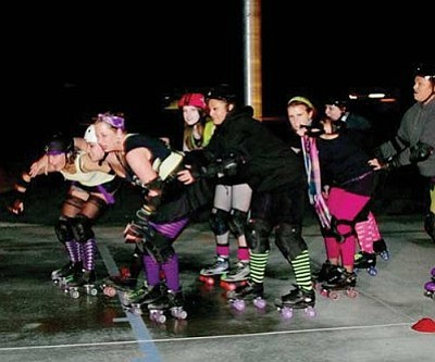 Courtesy<br /><br /><!-- 1upcrlf2 -->Without any local skating facilities, the Route 66 Derby Chix practice where they can, including large warehouse-type facilities and at a local basketball court. They're hoping to build support to bring a skating rink back to Kingman that would serve not only as their permanent home but as an entertainment center for the community.