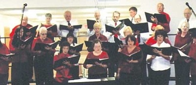 Courtesy<br /><br /><!-- 1upcrlf2 -->The Mohave Community Choir practices during a recent rehearsal.