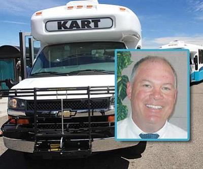 Main: JC AMBERLYN/Miner<br /><br /><!-- 1upcrlf2 -->The Kingman Area Regional Transit buses.<br /><br /><!-- 1upcrlf2 -->Inset: Mayor John Salem
