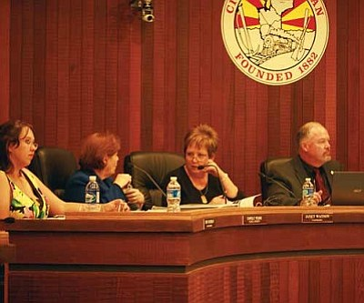 JC AMBERLYN/Miner<br /><br /><!-- 1upcrlf2 -->Council members discussed a variety of rate increases at Tuesday night's meeting.<br /><br /><!-- 1upcrlf2 --><br /><br /><!-- 1upcrlf2 -->