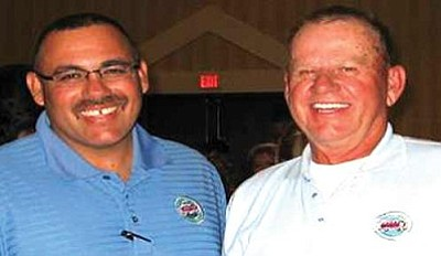 Courtesy<br /><br /><!-- 1upcrlf2 -->Eduardo Raymond, left, and Jack Turton competed in a Bus Roadeo April 10-12 in Mesa as representatives of Kingman Area Regional Transit.