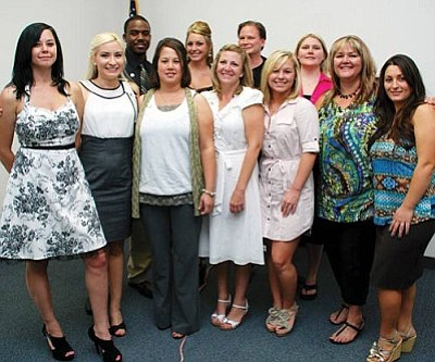Courtesy<br /><br /><!-- 1upcrlf2 -->The 2011 graduates of Mohave Community College's physical therapist assistant program are, left to right, Erin Ginsburg, Lindsey Arndt, Darryll McKoy, Sherry Hammontree, Christina Miller, Wendy McGuire, David Nichols, Kylee Nusbaum, Jerrieanne Bucszek, Deanna Brocard and Kelly Bales.