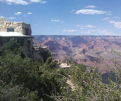 Courtesy<br /><br /><!-- 1upcrlf2 -->A man died Friday after falling from this Lookout Studio at the Grand Canyon.