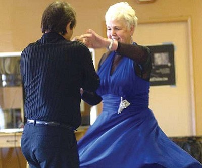 JC AMBERLAIN/Miner<br /><br /><!-- 1upcrlf2 -->Photo from a dance event held at the Kathryn Heidenreich Adult Center in 2008. Jesse Infante (left) and Jean White from Los Angeles dance the Hustle.