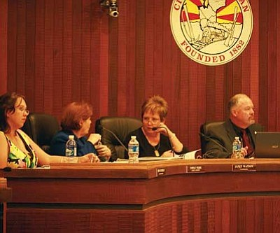 JC AMBERLYN/Miner<br /><br /><!-- 1upcrlf2 -->A Kingman City Council meeting.