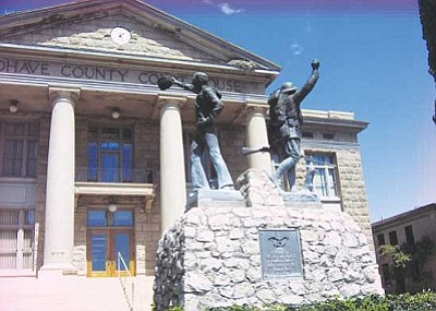 AHRON SHERMAN/Miner<br /><br /><!-- 1upcrlf2 -->The Old Courthouse building next to the Mohave County Superior Court is the site of a 9/11 prayer vigil at 5 p.m. Sunday.<br /><br /><!-- 1upcrlf2 -->
