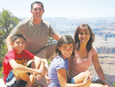 Courtesy<br /><br /><!-- 1upcrlf2 -->The Kirbys at the Grand Canyon in July. From left: Jack, John, Katelyn and Maria.<br /><br /><!-- 1upcrlf2 -->