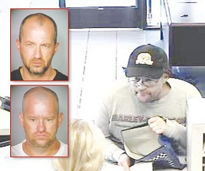 Courtesy<br /><br /><!-- 1upcrlf2 -->A man authorities believe could be Thomas Leavy is shown on surveillance video robbing the Kingman US Bank branch in August.<br /><br /><!-- 1upcrlf2 --><br /><br /><!-- 1upcrlf2 -->INSET PHOTOS: Kevin Leavy (Top)<br /><br /><!-- 1upcrlf2 -->Thomas Leavy (Bottom)