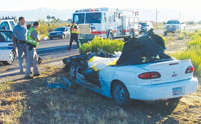 Courtesy Golden Valley Fire Department<br> Golden Valley resident Bridget Bruce, 27, was killed and her son severely injured after her car collided with a school bus Tuesday morning.
