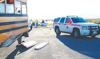 Courtesy<br /><br /><!-- 1upcrlf2 -->Golden Valley resident Bridget Bruce, 27, was killed and her son severely injured after her car collided with a school bus Tuesday morning.