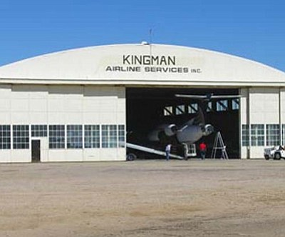 Courtesy<br /><br /><!-- 1upcrlf2 -->A hangar of the Kingman Airport.