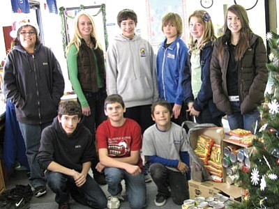 Courtesy<br> Shown (left to right) from the KAOL Middle School are: Jacob Popeil, Seth Cole and Chase Mitchell; and top row: Trey Pricto, Kirsten Lewis, Kyle Julle, Logan Day, Chloe Elliott and Alyssa Judd.