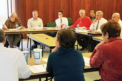 JC AMBERLYN/Miner<br> City Council received a crash course in realistic goal-setting during its budget meeting Friday.