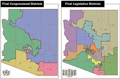 Courtesy<br> The maps of the legislative and congressional districts can be found at www.azredistricting.org