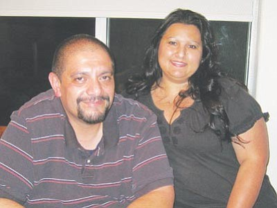 ERIN TAYLOR/Miner<br> Gabe Sanchez and Tina Tapia are trying to balance raising a family with managing separate illnesses as medical bills threaten their financial future.