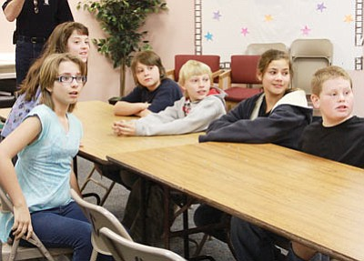 JC AMBERLYN/Miner<br> Some of the students are pictured at the moment they were told they can have ice cream and cupcakes. From left to right are (front) Jade Miller, Shawna Wilson, Michael Mucklow, Dillon Beckmon, Mackenzie Tierney and Joe Jannace.