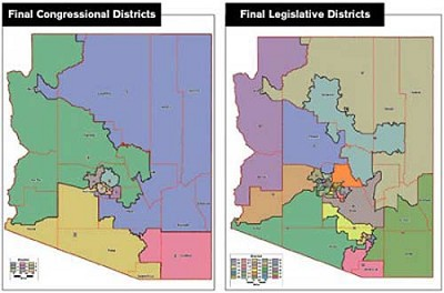Map Of Arizona Voting Districts.Department Of Justice Approves Legislative District Maps Kingman