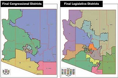 Map Of Arizona Congressional Districts.Department Of Justice Approves Legislative District Maps Kingman