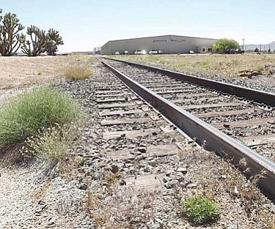 AHRON SHERMAN/Miner<br /><br /><!-- 1upcrlf2 -->The railroad within the Kingman Airport & Industrial Park used to transport cargo from BNSF's mainline to customers within the park.